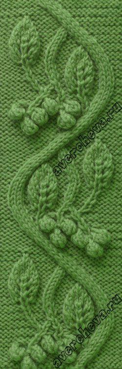 "pattern 691 ""Celtic vine"" | directory knitting patterns"