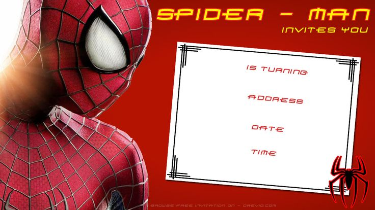 awesome Free Printable Blank Spiderman Birthday Invitation | Birthday Invitation for Kids ...