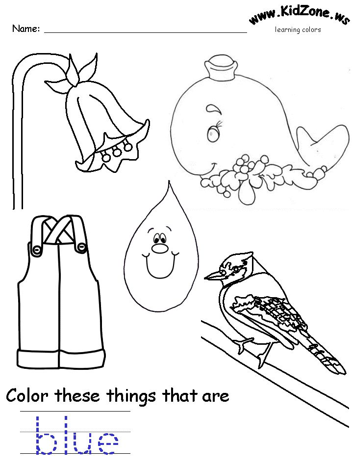 25 Best Ideas About Color Blue Activities On Pinterest Blue Coloring Pages
