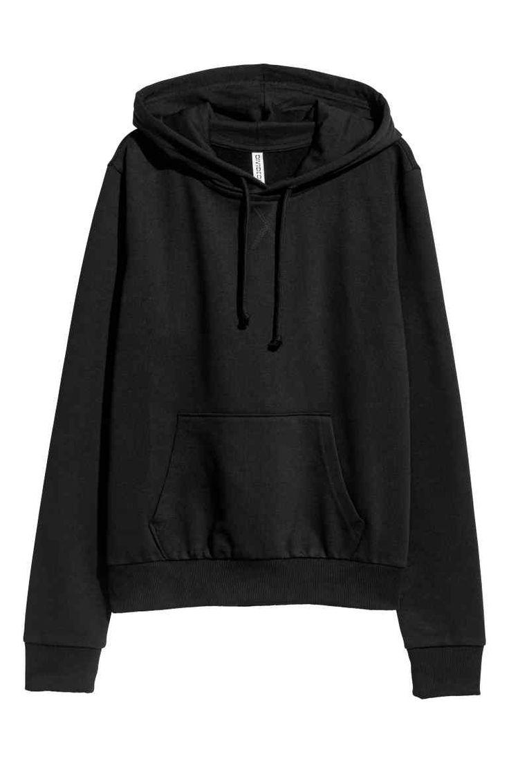 Mikina s kapucí - Černá - ŽENY | H&M CZ