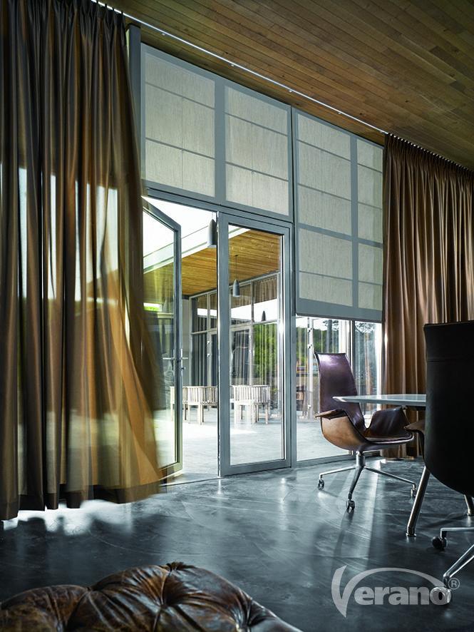 Luxe #vouwgordijnen in natuurlijke #tinten passen prima in een landelijk #interieur.
