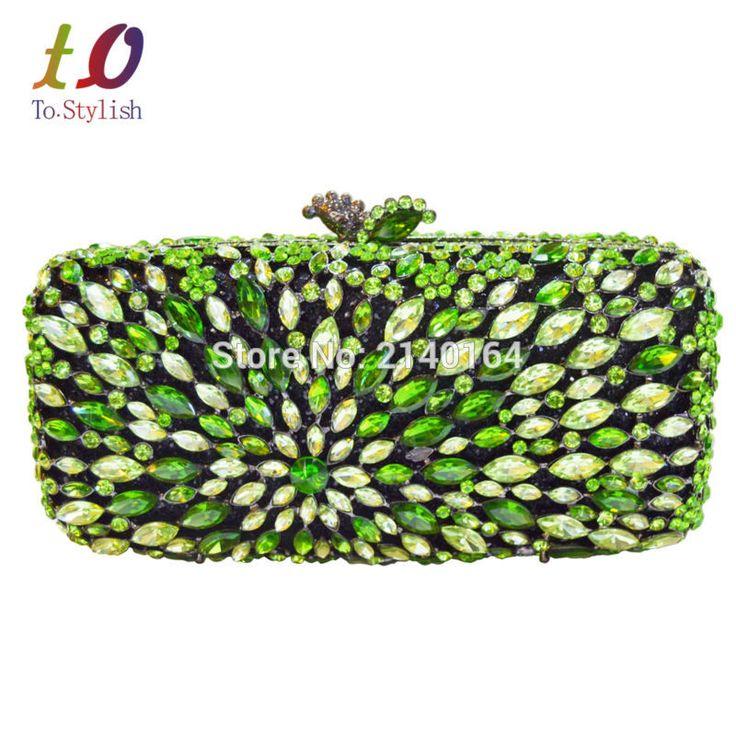 ==> [Free Shipping] Buy Best Stylish Fashion handmade Luxury rhinestone pouch box shape crystal indian bridal wedding clutch women evening bags 88194 Online with LOWEST Price   32672610944