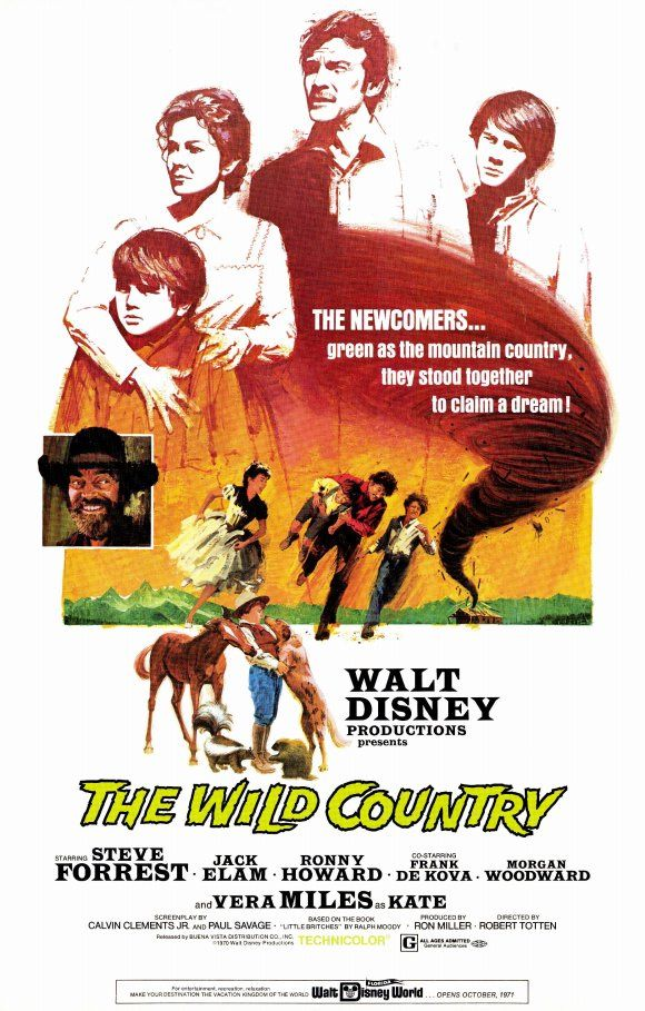 The Wild Country (1970) Walt Disney Movies Pinterest