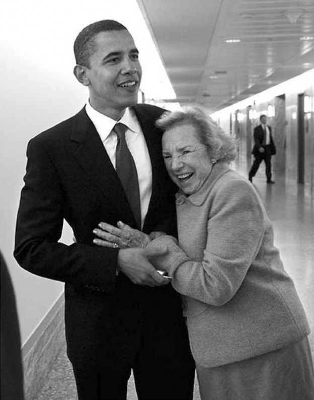 I absolutely love this picture. Obama & Ethel Kennedy