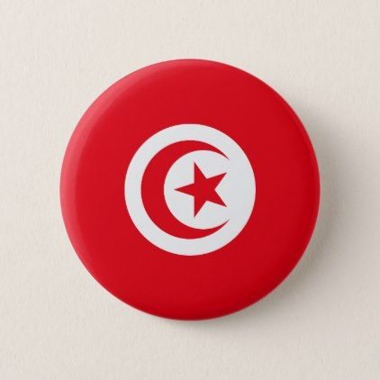 #Tunisia Flag Pinback Button - #country gifts style diy gift ideas