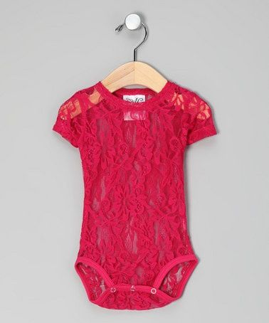 Put over top a white onesie. LOVE!!!!: White Onsi, Lace Bodysuit, White Onesie, Pink Lace, Hot Pink, Future Baby, Future Kids, Baby Girls, Lace Onesie
