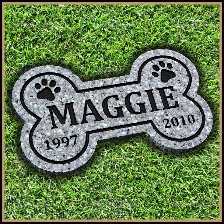 """Memorialize the life of your 4 legged friend with a Personalized Pet Memorial Grave Marker Headstone for Dog or cat 7"""" x 12"""" on Etsy $35 #PetMemorial #PetGraveMarker"""