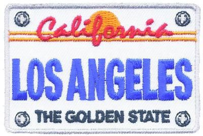 Los Angeles Patch - California License Plate, The Golden State