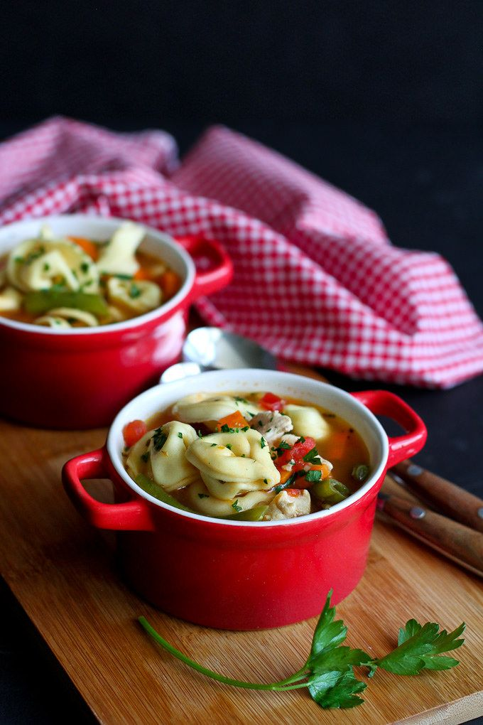 Italian Chicken & Vegetable Tortellini Soup Recipe