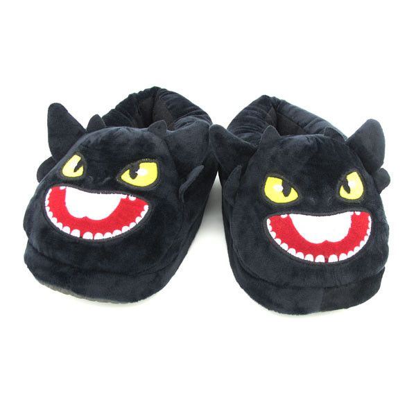 Toothless Dragon Plush Slippers