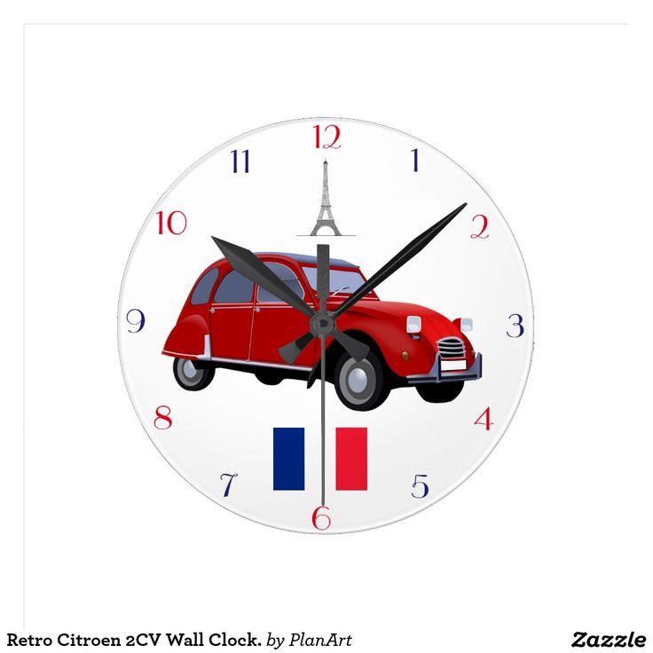 Retro Klok van de Muur van Citroën 2CV