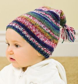 FREE Baby Stocking Cap knitting pattern from Creative Knitting. Featured in the 2013 Free Travel Project of the Month series. Access this free pattern + more here: http://www.creativeknittingmagazine.com/Knit_Travel_Project/?id=7