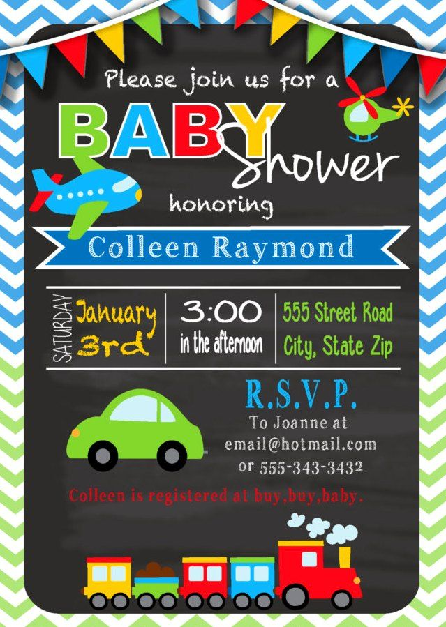 free printable baby shower invitations for boys 3