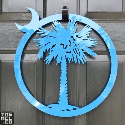 Palmetto And Cresent Moon Door Decoration South Carolina