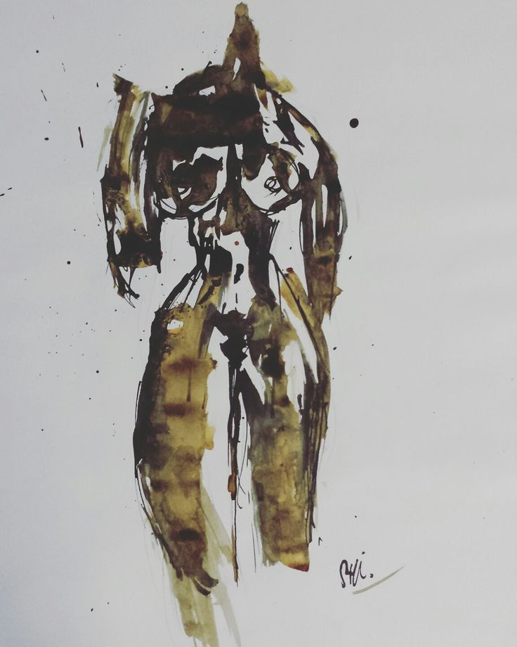 \woman's body in ink and coffee 2/