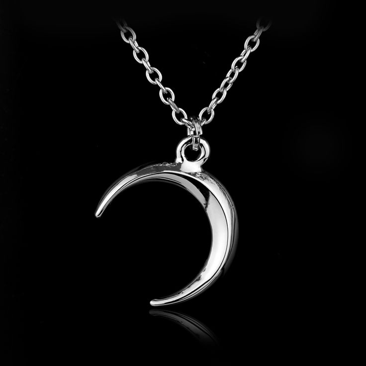 New Statement Jewelry Gothic Punk Style Necklaces Moon Shape 2cm Wizard of the month March Quarter Faerie Pendant Necklace 1PC