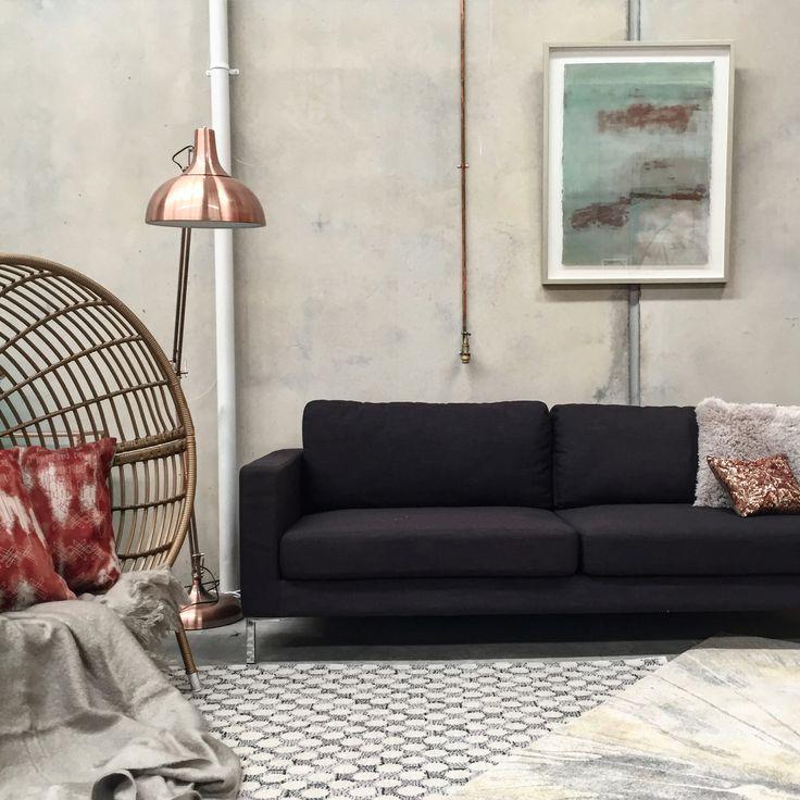 Contemporary industrial living room   Art by Francesca Gnagnarella @fragnagna_art