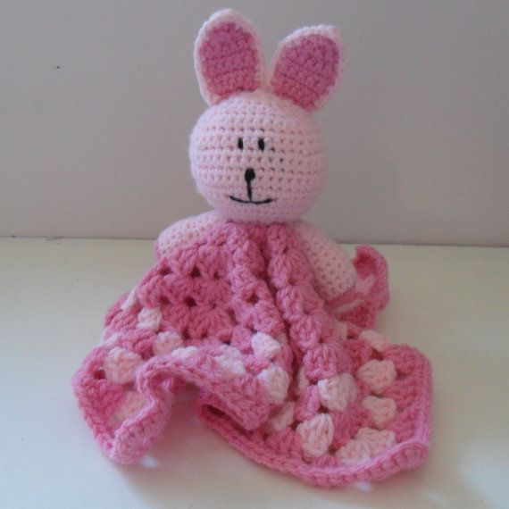 Bunny Snuggle Blanket by HappyGeekCreations on Etsy, £12.50