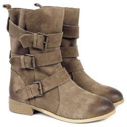 SHARE & Get it FREE | Casual Women's Combat Boots With Buckles and Suede DesignFor Fashion Lovers only:80,000+ Items • New Arrivals Daily • Affordable Casual to Chic for Every Occasion Join Sammydress: Get YOUR $50 NOW!