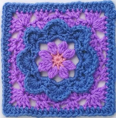 Fiber Flux: Fabulous Flower Squares! 12 Free Crochet Patterns...