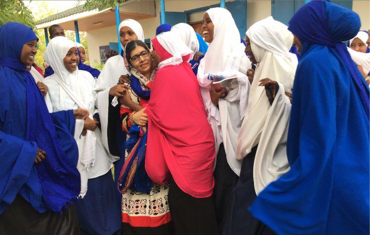 From Dadaab refugee camp in Kenya