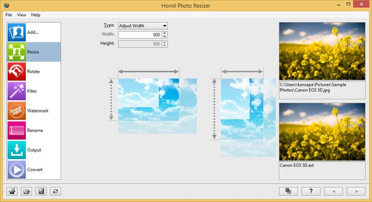 Hornil Photo Resizer - A batch image processor for Windows