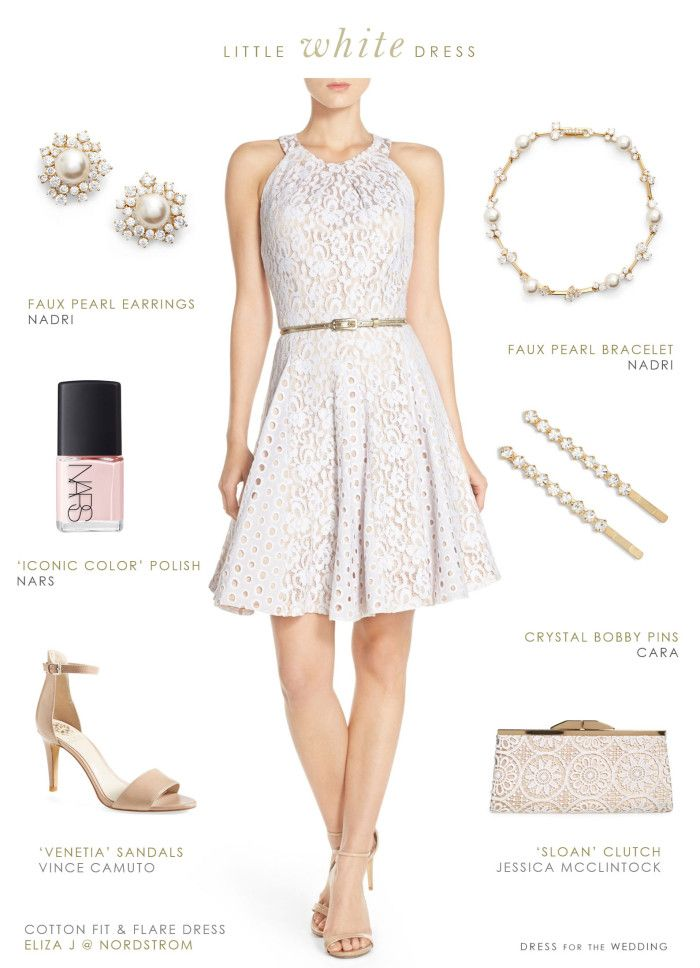 Little white dress for a bridal shower