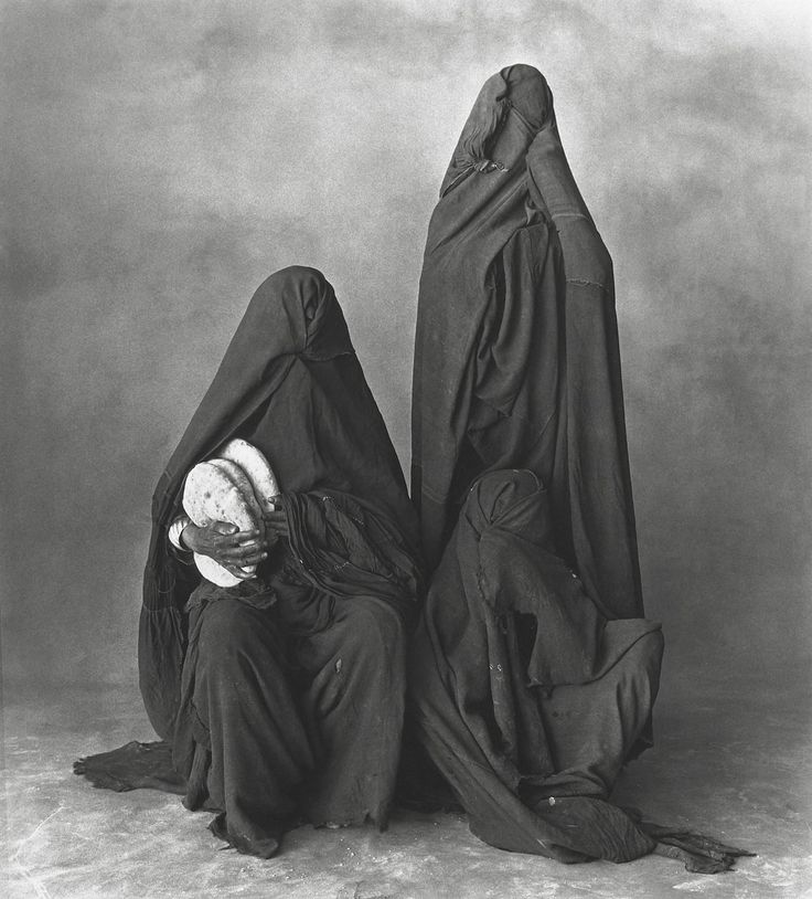 It's a shame they can never see if they looked like their great-grandmother. Why bother-portrait. Women of rissani, morocco 1971
