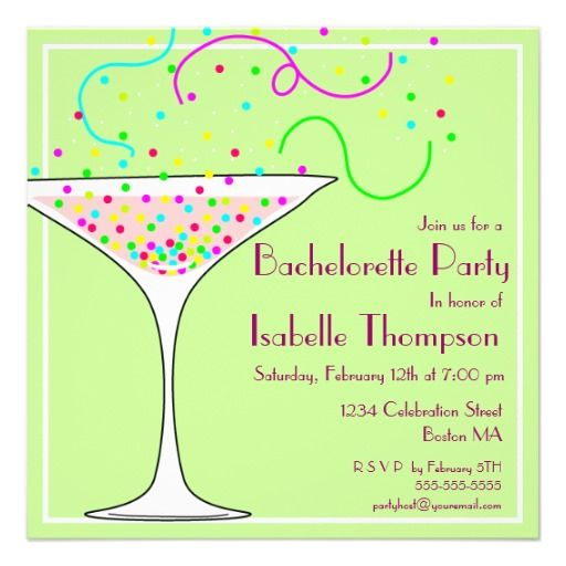 confetti bachelorette party invitation in each seller make purchase online for cheap choose the - Cheap Bachelorette Party Invitations