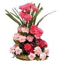 Check out our New Product  Pink Crush Basket Arrangements 30 Light & Dark Pink Carnations basket  Rs.1,237