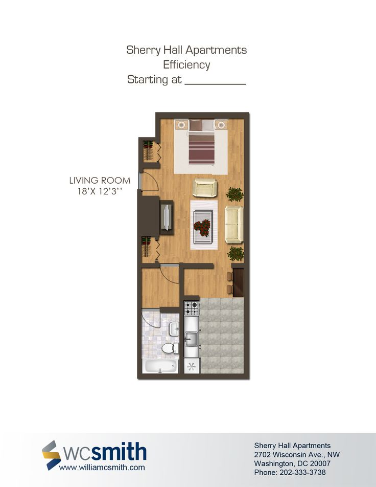 Sherry hall parks washington and floors for Studio apartment blueprints