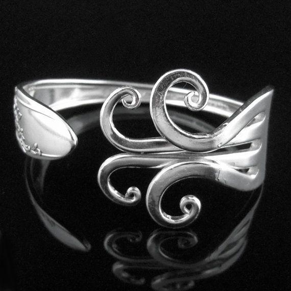 Gabel-Armband, umweltfreundliche tafelsilber Schmuck in ausgefallenen Design Nummer sechs