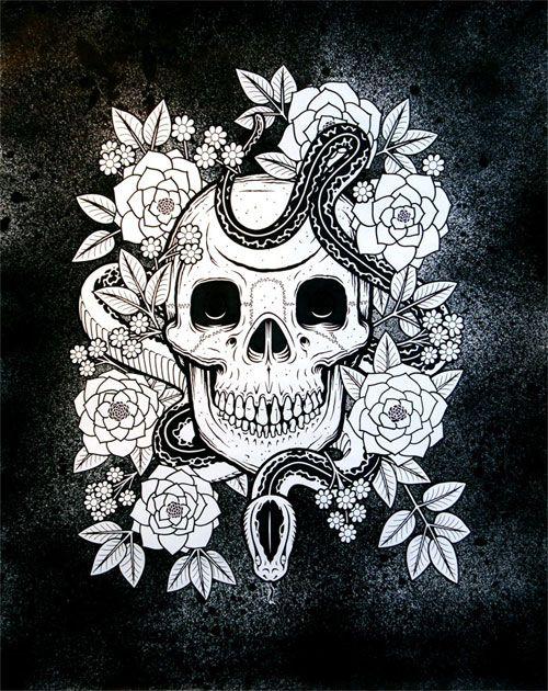 MIKE GIANTArt Stuff, Skull, Mike Giants, Bones, Tattoo Design, Skull Art, San Francisco, White Wall, Wall Gallery