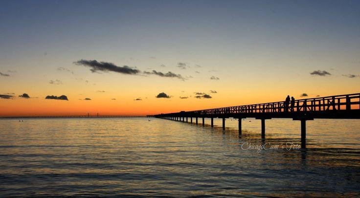 Långa bryggan, Bjärred Photo: Camilla Laursen, ChicagoCam´s foto  #långabryggan #sunset #bjärred #sweden #sverige #öresund