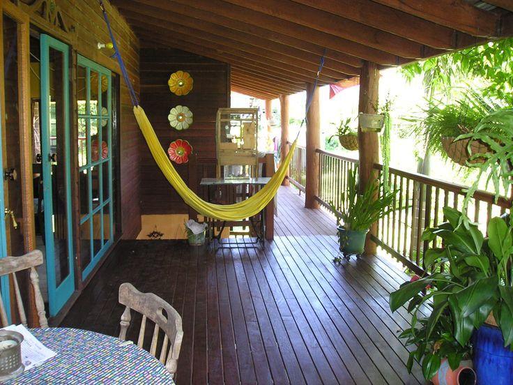Upstairs back verandah facing east, looking north