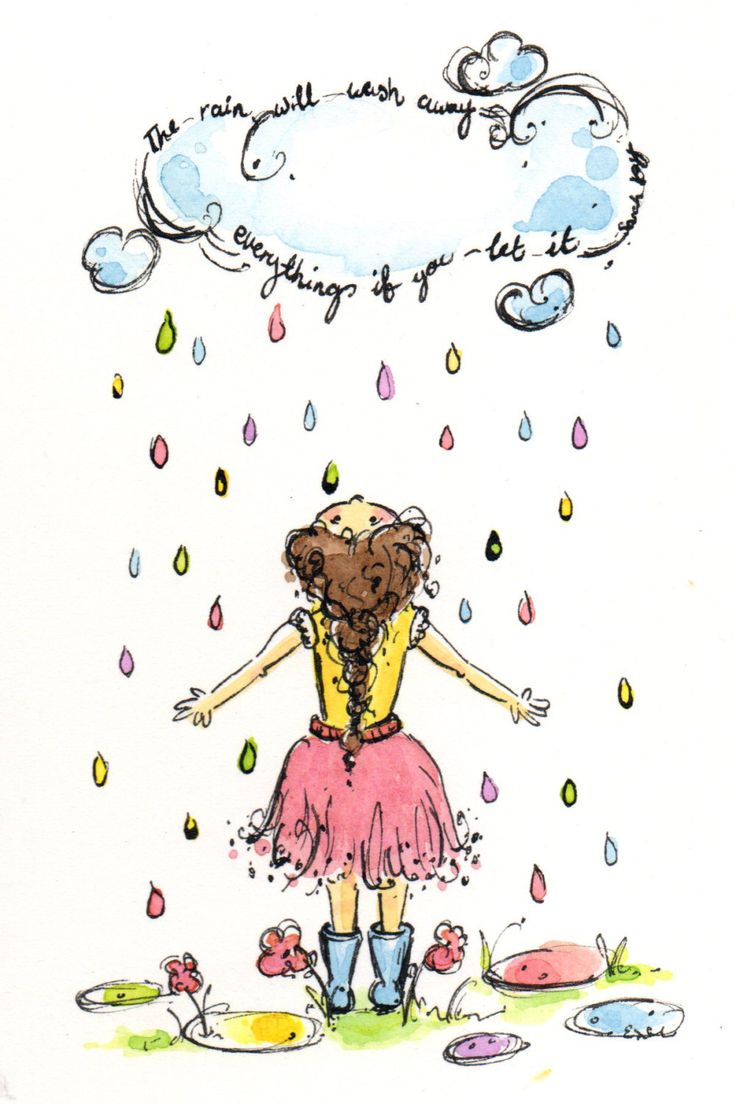 The Rain Illustration- Sarah Kay Quote #makeforgood by TheLullabyeGallery on Etsy