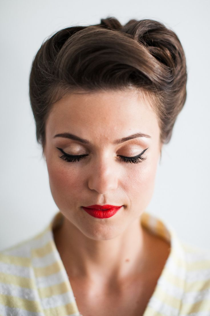 Gorgeous retro inspired wedding 'do...