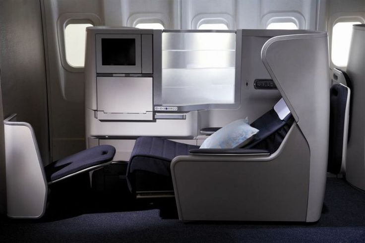 British Airways  You can mind your own business in British Airways' Club World with a touch-screen privacy screen.
