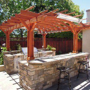 Marin Outdoor Kitchen Pergola Outdoor Pergola Wood Pergola Pergola