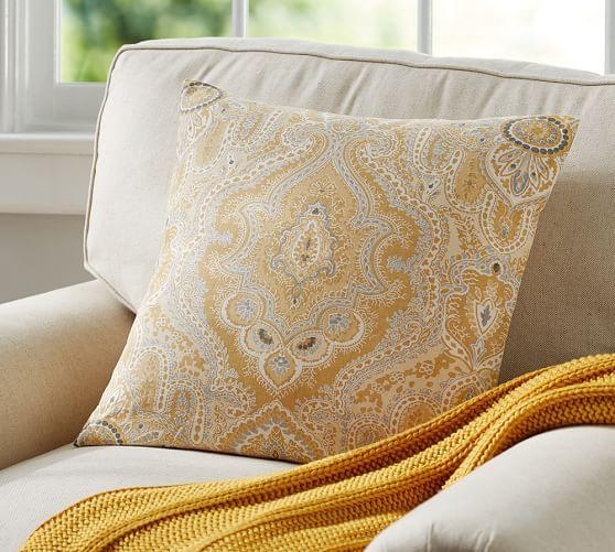 Viola Print Pillow Cover | Pottery Barn