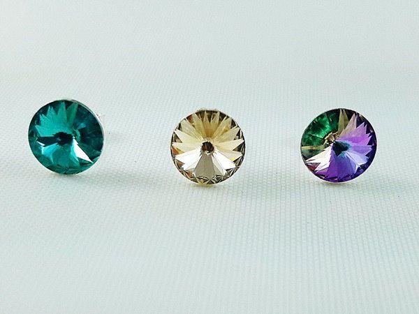 Girl's Earrings, Golden Shadw Swarovski Stud Girl's Earrings, Crystal Earrings, Gift for Girl, Christmas gift for Girl, fast shipping by modotikon on Etsy