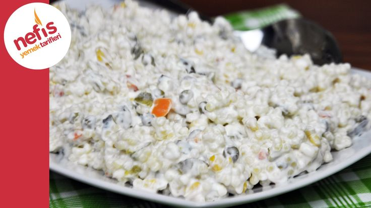 ✿ ❤ ♨ Garnitürlü Kuskus Salatası   sesli anlatım - Çok kolay :))