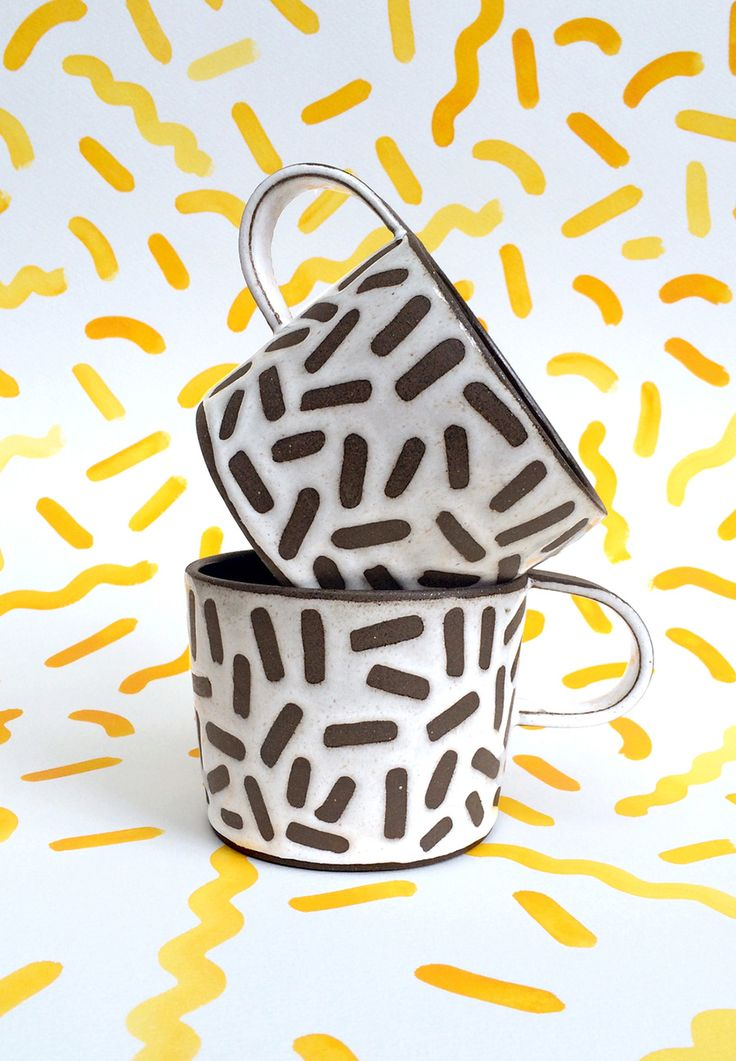 fun-fetti mugs! #textiledesign #textileart #printandpattern \\ Recreation Center