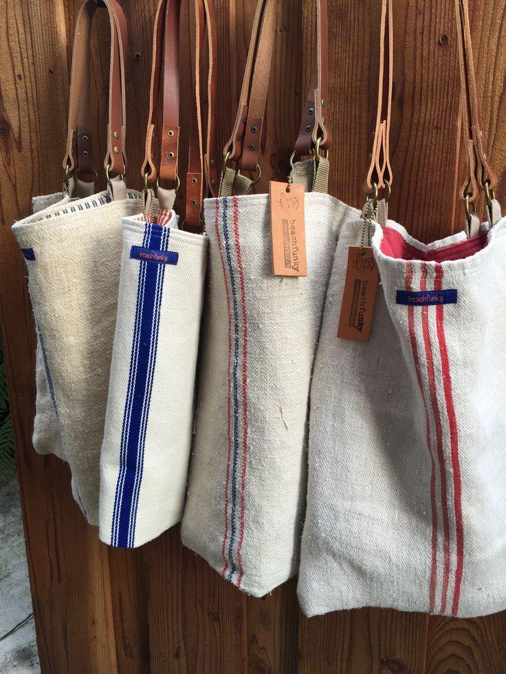 European grain sack bag and market tote
