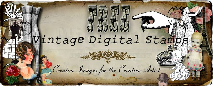 **FREE ViNTaGE DiGiTaL STaMPS** TONS of free digital images for personal or commercial use. Awesome!!