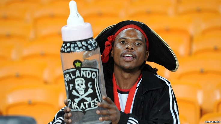 An Orlando Pirates supporter during the CAF Confederation Cup match between Orlando Pirates and Zanaco at FNB Stadium, Johannesburg, South Africa - 6 April 2013
