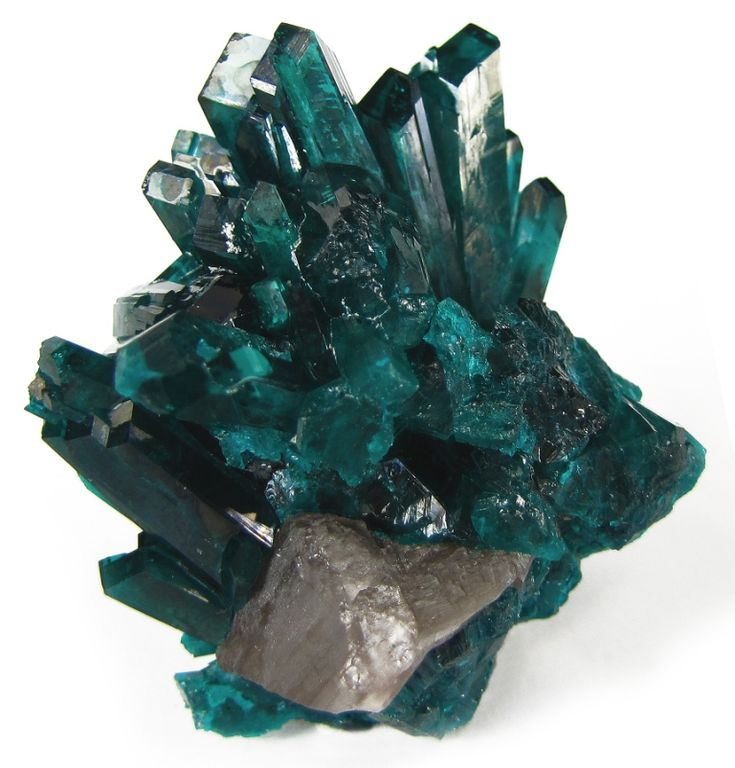 Dioptase and cerussite; Namibia