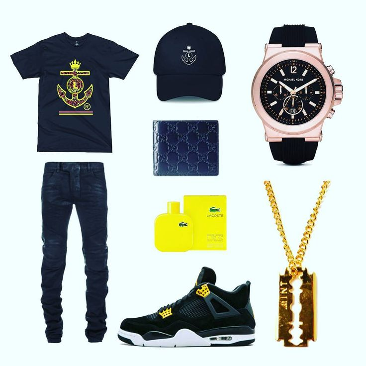 This look is all black and yellow like a rock star! . Tee/Cap LinoRobles  Sneakers Jordans Wallet Gucci Watch Michael Kors Cologne: Lacoste #mensfashion #sportswear #streetwear #instafashion #fashiongoals #instastyle #flatlay #stylish #ootd #tshirt #menswear #instagood #photooftheday #stylediaries #whatiwore #lovethislook #outfitgrid #streetstyle fashion #preppy #streetfashion #anchor #style #fashion #linolifestyles #streetstyle #mensfashionpost #modernnotoriety #trueoutfit #nike #jordans