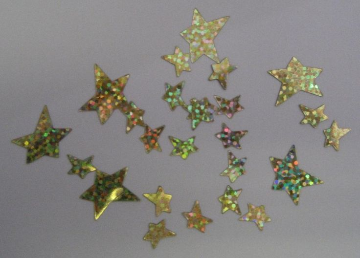 Gold Holographic Stars Scatters (Assorted) Brighten your Party Table with these sparkling assorted star scatters!  Great fun   cost is per 25gm bag