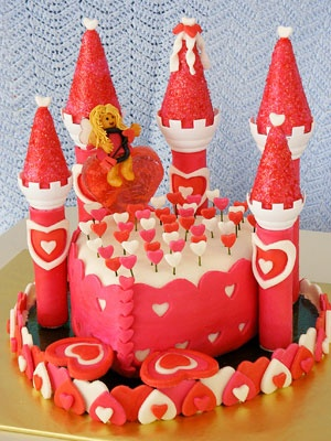 Cupid's Castle cakeFood Recipes, Castles Cake, Creative Cake, Ideas, Holiday Recipes, Incredibles Valentine'S, Cupid Castles, Castle Cakes, Cakery Bakeries